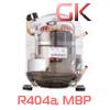 Среднетемпературный герметичный холодильный компрессор Embraco Aspera (Эмбрако Аспера), MBP, R404/R507